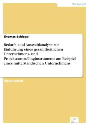 Bedarfs- und Auswahlanalyse zur Einführung eines gesamtheitlichen Unternehmens- und Projektcontrollinginstruments am Beispiel eines mittelständischen Unternehmens