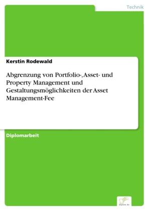 Abgrenzung von Portfolio-, Asset- und Property Management und Gestaltungsmöglichkeiten der Asset Management-Fee