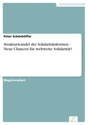 Strukturwandel der Solidaritätsformen - Neue Chancen für weltweite Solidarität?
