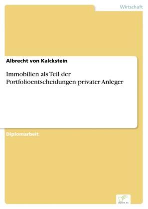Immobilien als Teil der Portfolioentscheidungen privater Anleger