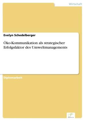 Öko-Kommunikation als strategischer Erfolgsfaktor des Umweltmanagements