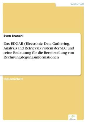 Das EDGAR (Electronic Data Gathering, Analysis and Retrieval) System der SEC und seine Bedeutung für die Bereitstellung von Rechnungslegungsinformationen