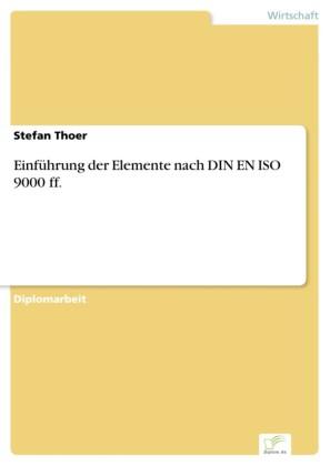 Einführung der Elemente nach DIN EN ISO 9000 ff.