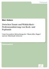 Zwischen Traum und Wirklichkeit - Professionalisierung von Rock- und Popbands