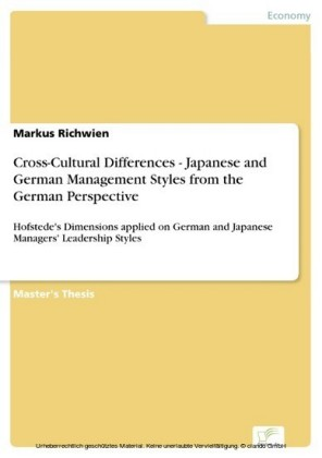 Cross-Cultural Differences - Japanese and German Management Styles from the German Perspective