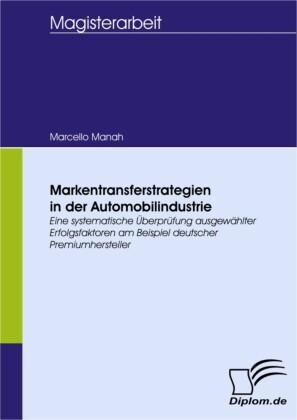 Markentransferstrategien in der Automobilindustrie