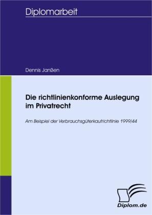 Die richtlinienkonforme Auslegung im Privatrecht