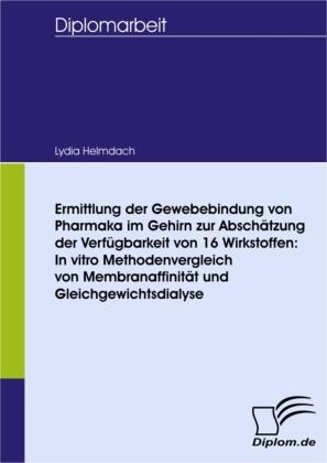 Ermittlung der Gewebebindung von Pharmaka im Gehirn zur Abschätzung der Verfügbarkeit von 16 Wirkstoffen: In vitro Methodenvergleich von Membranaffinität und Gleichgewichtsdialyse