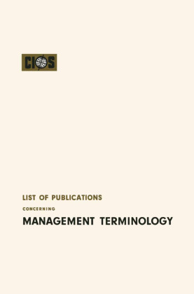 List of Publications Concerning Management Terminology