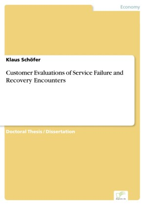 Customer Evaluations of Service Failure and Recovery Encounters