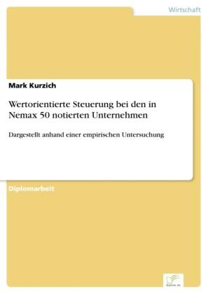 Wertorientierte Steuerung bei den in Nemax 50 notierten Unternehmen