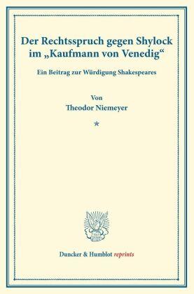 """Der Rechtsspruch gegen Shylock im """"Kaufmann von Venedig""""."""