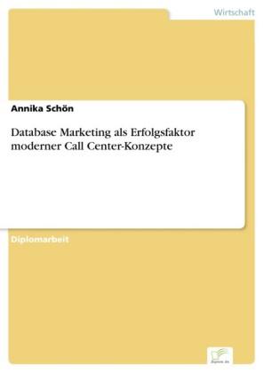Database Marketing als Erfolgsfaktor moderner Call Center-Konzepte