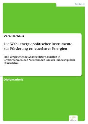 Die Wahl energiepolitischer Instrumente zur Förderung erneuerbarer Energien