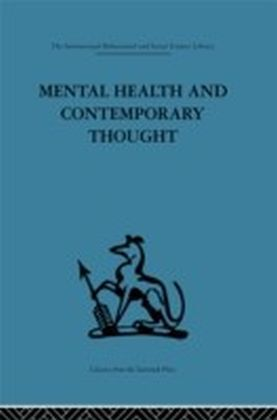 Mental Health and Contemporary Thought