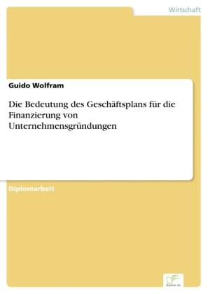Die Bedeutung des Geschäftsplans für die Finanzierung von Unternehmensgründungen