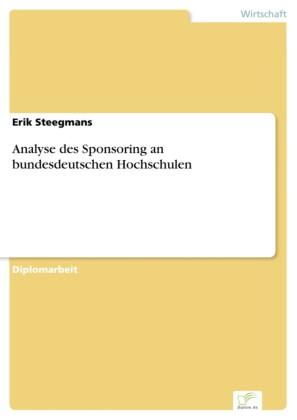 Analyse des Sponsoring an bundesdeutschen Hochschulen