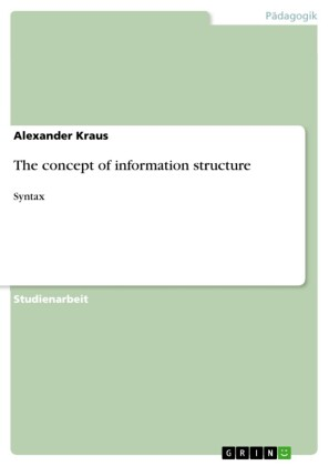 The concept of information structure
