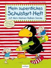 Mein superdickes Schulstart-Heft mit dem kleinen Raben Socke Cover