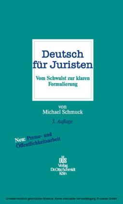Deutsch für Juristen