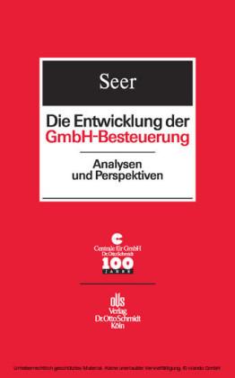Die Entwicklung der GmbH-Besteuerung