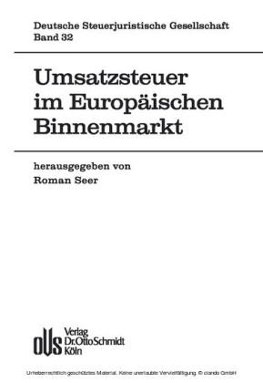 Umsatzsteuer im Europäischen Binnenmarkt