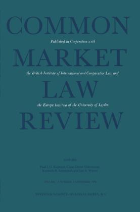 Common Market Law Review, 4 Teile