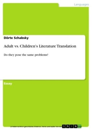 Adult vs. Children's Literature Translation
