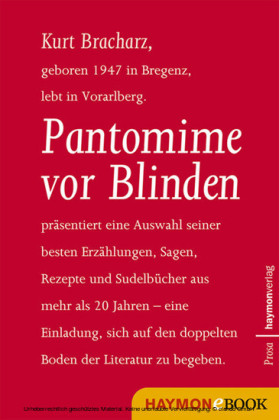 Pantomime vor Blinden