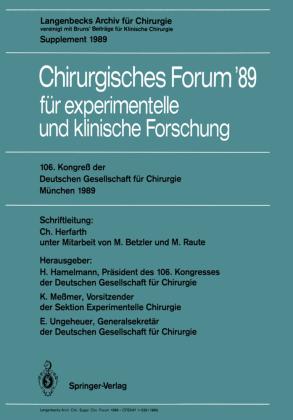 106. Kongreß der Deutschen Gesellschaft für Chirurgie München, 29. März - 1. April 1989