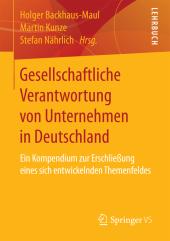 Gesellschaftliche Verantwortung von Unternehmen in Deutschland