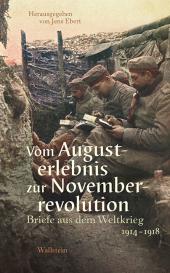 Vom Augusterlebnis zur Novemberrevolution Cover