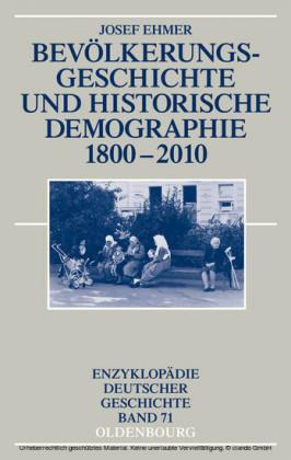 Bevölkerungsgeschichte und Historische Demographie 1800-2010
