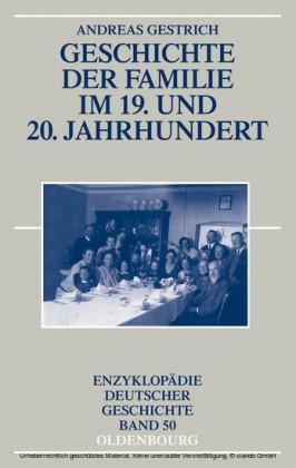 Geschichte der Familie im 19. und 20. Jahrhundert