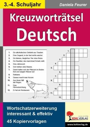Kreuzworträtsel Deutsch 3.-4. Schuljahr