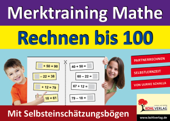 Merktraining Mathe - Rechnen bis 100