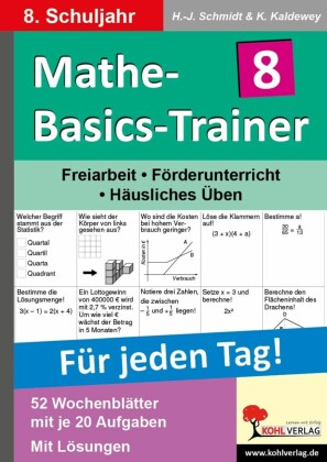 Mathe-Basics-Trainer / Klasse 8