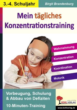 Mein tägliches Konzentrationstraining, 3./4. Schuljahr