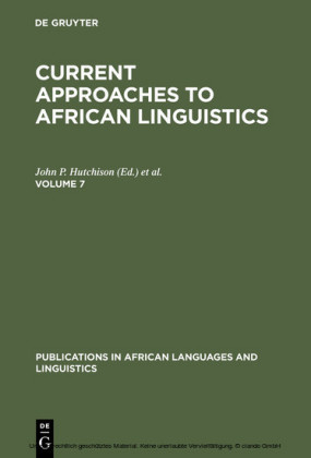 Current Approaches to African Linguistics. Vol 7