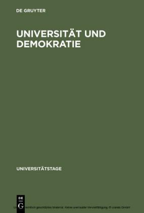 Universität und Demokratie