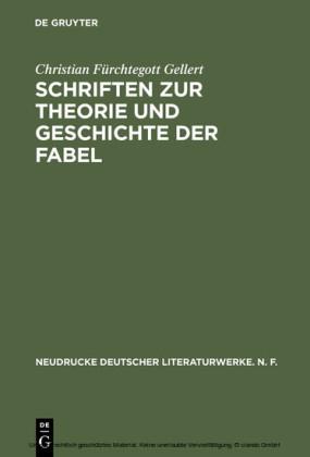 Schriften zur Theorie und Geschichte der Fabel