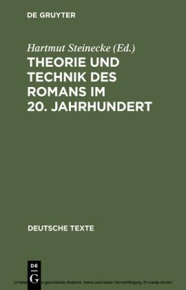 Theorie und Technik des Romans im 20. Jahrhundert
