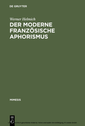 Der moderne französische Aphorismus
