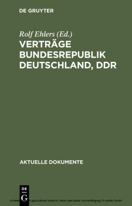 Verträge Bundesrepublik Deutschland, DDR