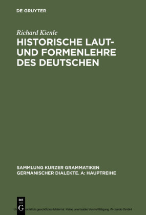 Historische Laut- und Formenlehre des Deutschen