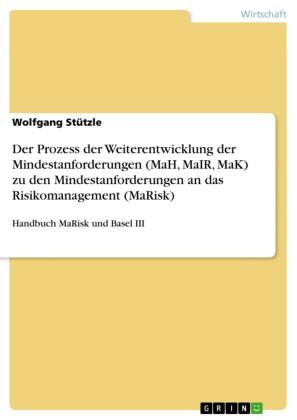 Der Prozess der Weiterentwicklung der Mindestanforderungen (MaH, MaIR, MaK) zu den Mindestanforderungen an das Risikomanagement (MaRisk)