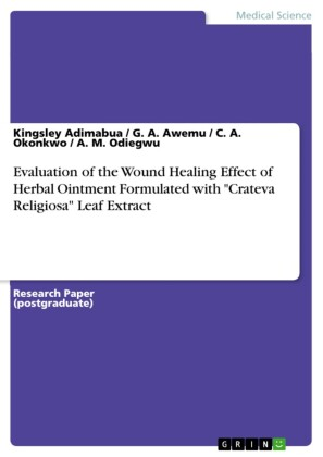 Evaluation of the Wound Healing Effect of Herbal Ointment Formulated with 'Crateva Religiosa' Leaf Extract