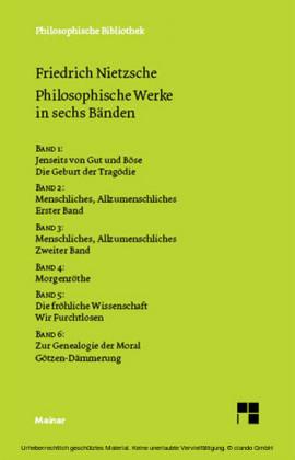 Philosophische Werke in sechs Bänden