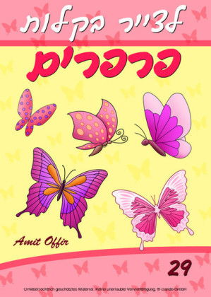 Drawing books: How to Draw Butterflies for beginners (Hebrew Edition)