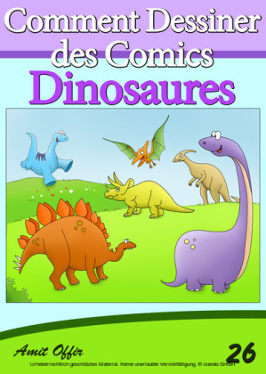 Livre de Dessin: Comment Dessiner des Comics - Dinosaures